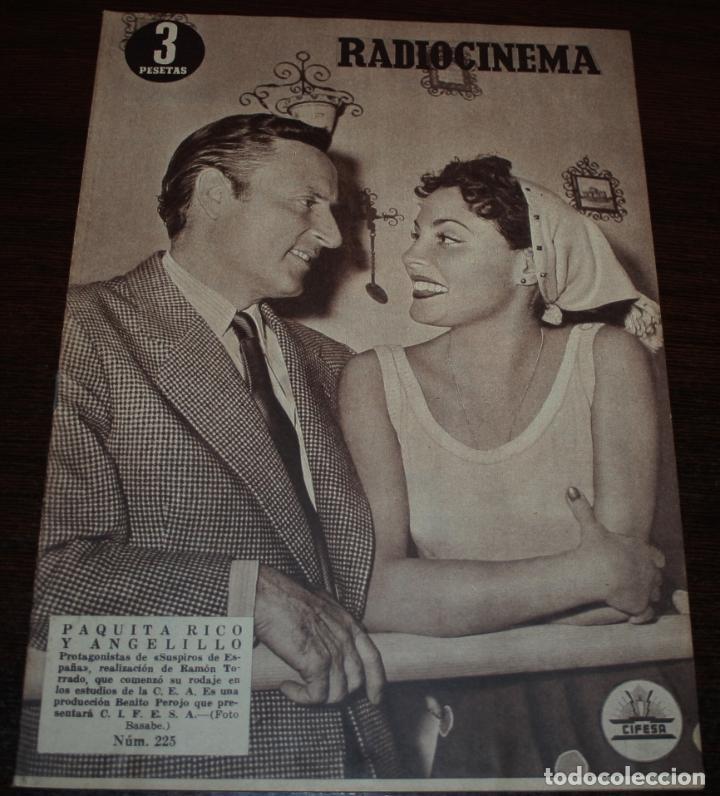 RADIOCINEMA Nº 225 - 13/11/1954 - EN PORTADA/CONTRAPORTADA: PAQUITA RICO, ANGELILLO/PAUL HENREID (Cine - Revistas - Radiocinema)