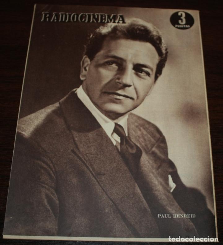 Cine: RADIOCINEMA Nº 225 - 13/11/1954 - EN PORTADA/CONTRAPORTADA: PAQUITA RICO, ANGELILLO/PAUL HENREID - Foto 3 - 99856107