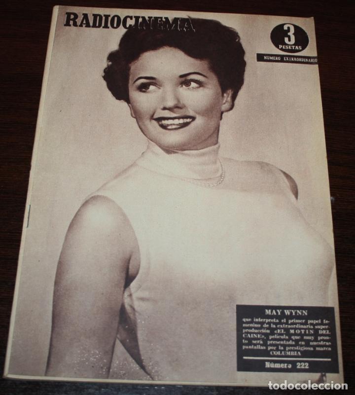 RADIOCINEMA Nº 222 - 23/10/1954 - EN PORTADA/CONTRAPORTADA: MAY WYNN/NANI FERNANDEZ (Cine - Revistas - Radiocinema)