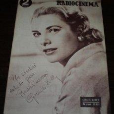 Cinema: RADIOCINEMA Nº 221 - 16/10/1954 - EN PORTADA/CONTRAPORTADA: GRACE KELLY/BING CROSBY. Lote 99856783