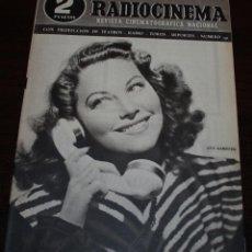 Cine: RADIOCINEMA Nº 191 - 20/03/1954 - EN PORTADA: AVA GARDNER. Lote 99857407