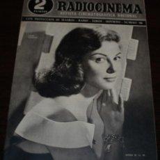 Cine: RADIOCINEMA Nº 190 - 13/03/1954 - EN PORTADA: PIER ANGELI. Lote 99857531