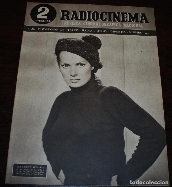 RADIOCINEMA Nº 197 - 1/05/1954 - EN PORTADA: MAUREEN O'HARA (Cine - Revistas - Radiocinema)