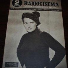 Cine: RADIOCINEMA Nº 197 - 1/05/1954 - EN PORTADA: MAUREEN O'HARA. Lote 154282668