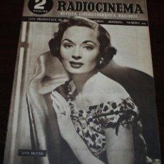 Cine: RADIOCINEMA Nº 200 - 22/05/1954 - EN PORTADA: ANN BLYTH. Lote 99861831