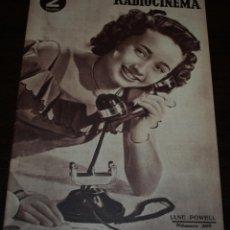 Cine: RADIOCINEMA Nº 209 - 24/07/1954 - EN PORTADA/CONTRAPORTADA: JANE POWELL/TOM D'ANDREA. Lote 99862335