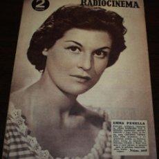 Cine: RADIOCINEMA Nº 208 - 17/07/1954 - EN PORTADA/CONTRAPORTADA: EMMA PENELLA/ROBERT TAYLOR. Lote 99862423