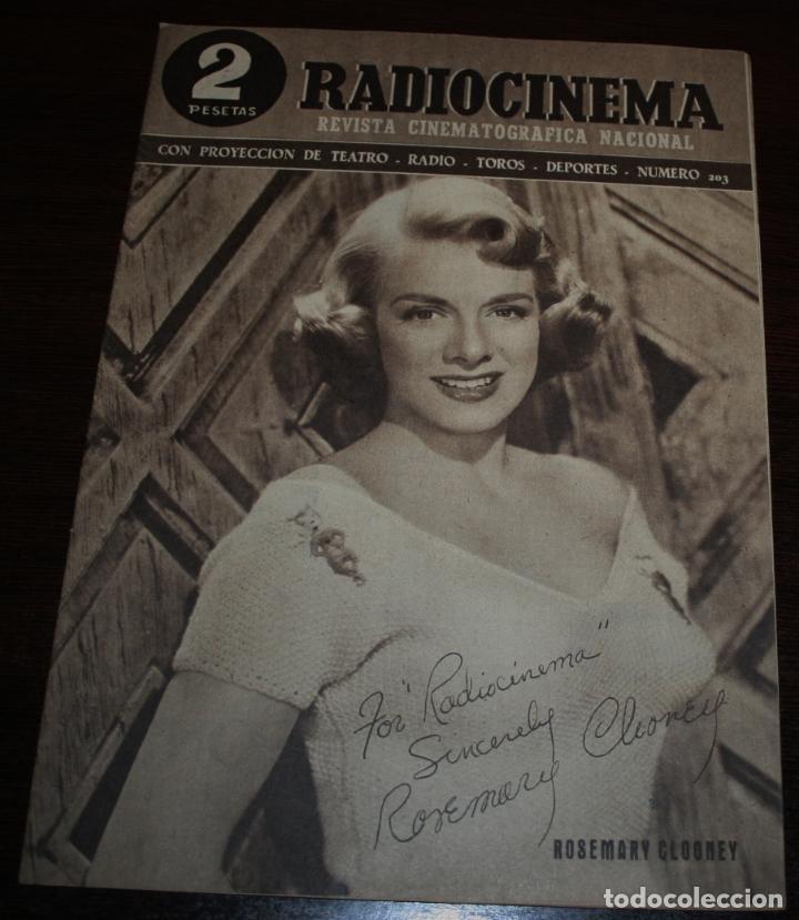 RADIOCINEMA Nº 203 - 12/06/1954 - EN PORTADA/CONTRAPORTADA: ROSEMARY CLOONEY/ROBERT MITCHUM (Cine - Revistas - Radiocinema)