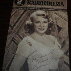 Cine: RADIOCINEMA Nº 203 - 12/06/1954 - EN PORTADA/CONTRAPORTADA: ROSEMARY CLOONEY/ROBERT MITCHUM. Lote 99863075
