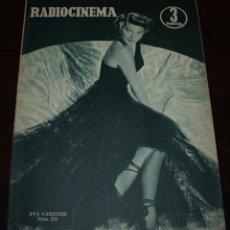 Cine: RADIOCINEMA Nº 233 - 8/01/1955 - EN PORTADA/CONTRAPORTADA: AVA GARDNER/DICK SIMMONS. Lote 99863423