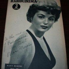 Cine: RADIOCINEMA Nº 231 - 25/12/1954 - EN PORTADA/CONTRAPORTADA: MARY MURPHY/JEAN PIERRE AUMONT. Lote 99882871