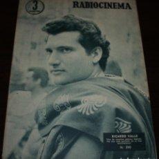 Cine: RADIOCINEMA Nº 290 - 11/02/1956 - EN PORTADA/CONTRAPORTADA: RICARDO VALLE/ROGER MOORE. Lote 99883023