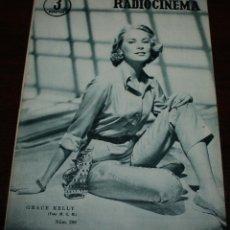 Cinema: RADIOCINEMA Nº 299 - 14/04/1956 - EN PORTADA/CONTRAPORTADA: GRACE KELLY/WALTER PIDGEON. Lote 99896719