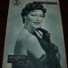 Cine: RADIOCINEMA Nº 298 - 7/04/1956 - EN PORTADA/CONTRAPORTADA: AVA GARDNER/GARY GRANT. Lote 154282702