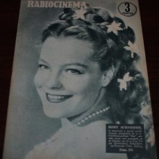 Cinéma: RADIOCINEMA Nº 295 - 17/03/1956 - EN PORTADA/CONTRAPORTADA: ROMY SCHNEIDER/ROBERT TAYLOR. Lote 99897283