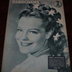 Cine: RADIOCINEMA Nº 295 - 17/03/1956 - EN PORTADA/CONTRAPORTADA: ROMY SCHNEIDER/ROBERT TAYLOR. Lote 99897283