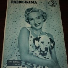 Cine: RADIOCINEMA Nº 293 - 3/03/1956 - EN PORTADA/CONTRAPORTADA: JANE POWELL/LILE BETTGER. Lote 99897555