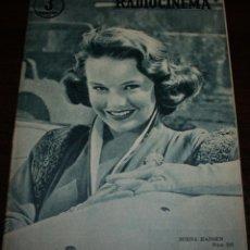 Cine: RADIOCINEMA Nº 292 - 25/02/1956 - EN PORTADA/CONTRAPORTADA: MIRNA HANSEN/ROCK HUDSON. Lote 99897671