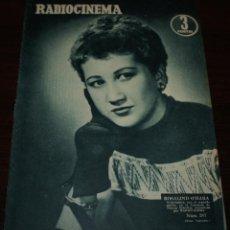 Cine: RADIOCINEMA Nº 287 - 21/01/1956 - EN PORTADA/CONTRAPORTADA: ROSALIND O'HARA/MIGUEL AGUADO. Lote 99898339