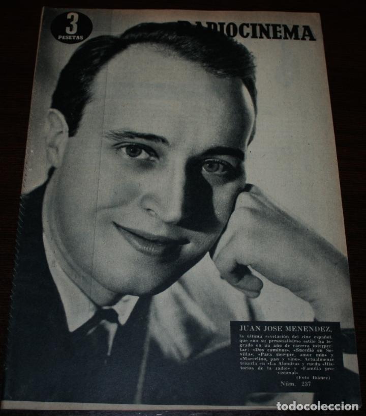 RADIOCINEMA Nº 237 - 5/02/1955 - EN PORTADA/CONTRAPORTADA: JUANJO MENÉNDEZ/VERA ELLEN (Cine - Revistas - Radiocinema)