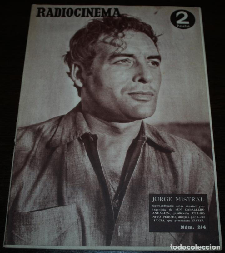RADIOCINEMA Nº 214 - 28/08/1954 - EN PORTADA/CONTRAPORTADA: JORGE MISTRAL/DORIS DAY (Cine - Revistas - Radiocinema)