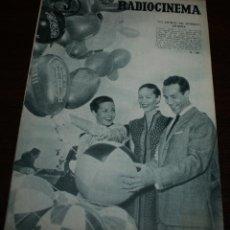 Cine: RADIOCINEMA Nº 309 - 23/06/1956 - EN PORTADA/CONTRAPORTADA: CARMEN SEVILLA/LEIGHSNOWDEN. Lote 99899495