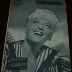 Cine: RADIOCINEMA Nº 307 - 9/06/1956 - EN PORTADA/CONTRAPORTADA: FERNANDA MONTEL/ROCK HUDSON. Lote 99906511