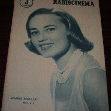 Cine: RADIOCINEMA Nº 319 - 1/09/1956 - EN PORTADA/CONTRAPORTADA: JEANNE MOUREAU/GARY COOPER. Lote 99907895