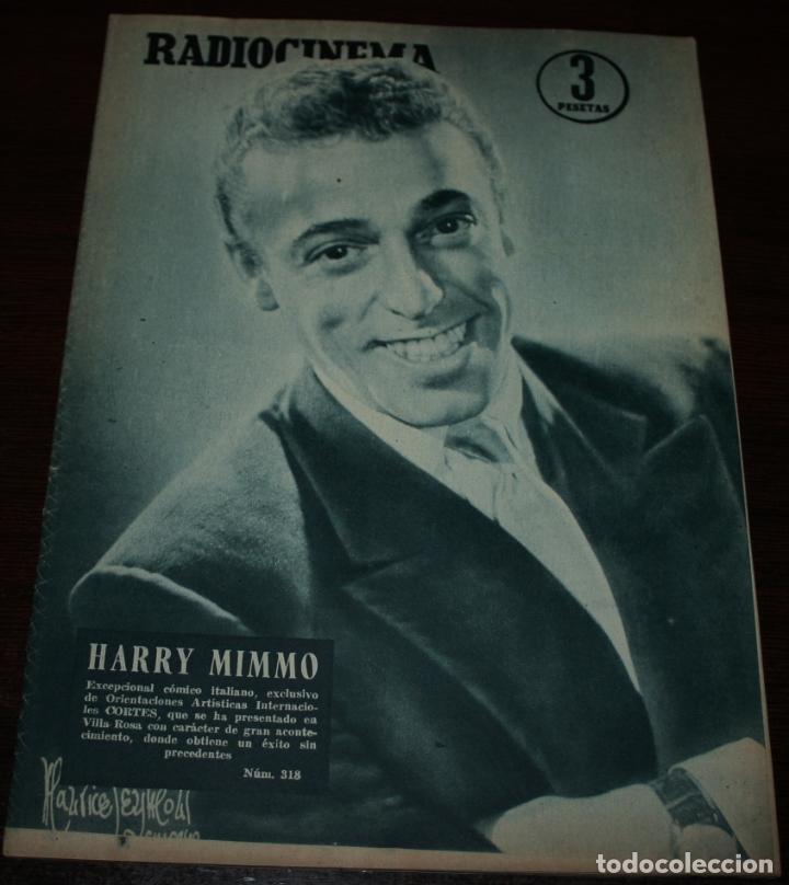 RADIOCINEMA Nº 318 - 25/08/1956 - EN PORTADA/CONTRAPORTADA: HARRY MIMMO/JOAN FONTAINE (Cine - Revistas - Radiocinema)