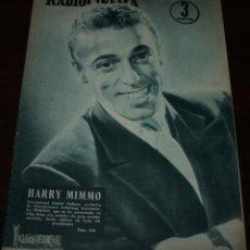 Cine: RADIOCINEMA Nº 318 - 25/08/1956 - EN PORTADA/CONTRAPORTADA: HARRY MIMMO/JOAN FONTAINE. Lote 99907959