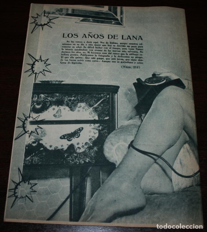 Cine: RADIOCINEMA Nº 314 - 28/07/1956 - EN PORTADA/CONTRAPORTADA: LANA TURNER - Foto 3 - 99908155