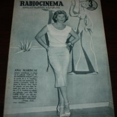 Cine: RADIOCINEMA Nº 313 - 21/07/1956 - EN PORTADA/CONTRAPORTADA: ANA MARISCAL/ANA LUISA PELUFFO. Lote 99908199