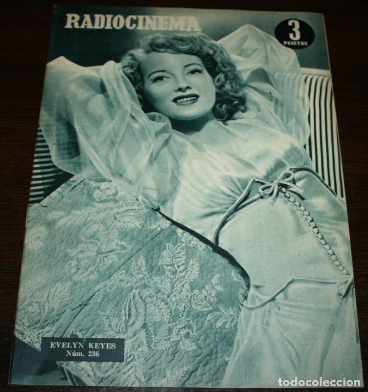RADIOCINEMA Nº 236 - 29/01/1955 - EN PORTADA/CONTRAPORTADA: EVELYN KEYES/WALTER PIDGEON (Cine - Revistas - Radiocinema)