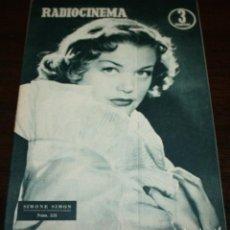 Cine: RADIOCINEMA Nº 235 - 22/01/1955 - EN PORTADA/CONTRAPORTADA: SIMONE SIMON/CESAR ROMERO. Lote 99908831