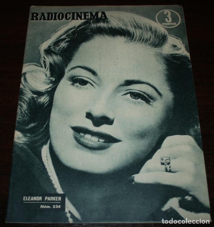 RADIOCINEMA Nº 234 - 15/01/1955 - EN PORTADA/CONTRAPORTADA: ELEANOR PARKER/JIM DAVIS (Cine - Revistas - Radiocinema)