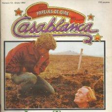 Cinema: CASABLANCA, Nº 13, ENERO 1982. JEAN EUSTACHE, TANNER, HARRISON FORD, WILDER. Lote 99929539