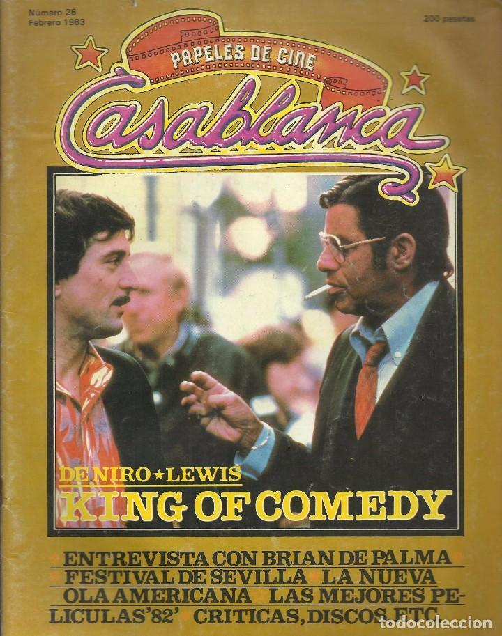 CASABLANCA, Nº 26, FEBRERO 1983. BRIAN DE PALMA, FESTIVAL SEVILLA, NUEVA OLA USA (Cine - Revistas - Otros)
