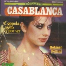 Cine: CASABLANCA Nº 34, 0CTUBRE 1983, COPPOLA, FELLINI, CINE ESPAÑOL. Lote 99931935