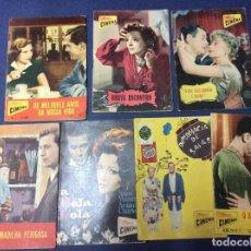 Cine: REVISTAS ILUSTRADAS COLECCIÓN CINEMA, LOTE CON 7 REVISTAS, AÑOS 50 - LOTE 1. Lote 100025631