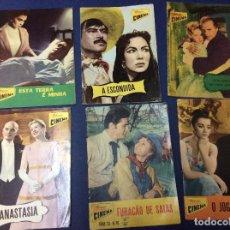 Cine: REVISTAS ILUSTRADAS COLECCIÓN CINEMA, LOTE CON 6 REVISTAS, AÑOS 50 - LOTE 4. Lote 100026663