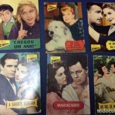 Cine: REVISTAS ILUSTRADAS COLECCIÓN CINEMA, LOTE CON 6 REVISTAS, AÑOS 50 - LOTE 7. Lote 100028063