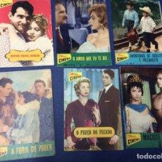 Cine: REVISTAS ILUSTRADAS COLECCIÓN CINEMA, LOTE CON 6 REVISTAS, AÑOS 50 - LOTE 9. Lote 100028715