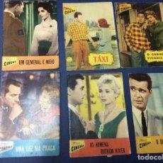 Cine: REVISTAS ILUSTRADAS COLECCIÓN CINEMA, LOTE CON 6 REVISTAS, AÑOS 50 - LOTE 10. Lote 100028995
