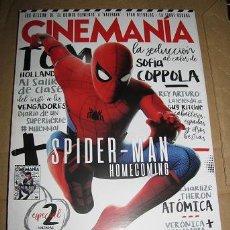 Cine: REVISTA CINEMANIA Nº263 (EN PORTADA:SPIDERMAN HOMECOMING) ¡¡LEER DESCRIPCION!!. Lote 100087743