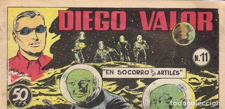 DIEGO VALOR, Nº 11 AÑO 1954-TEBEO CURIOSO HOJA COLOR -HOJA BLANCO Y NEGRO-8-PAGINAS- (Cine - Revistas - Otros)