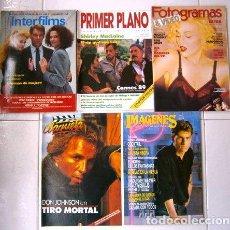 Cine: LOTE DE 5 REVISTAS VARIADAS DE CINE DEL AÑO 1989. Lote 26716813