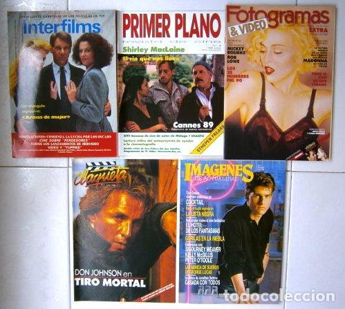 Cine: Lote de 5 revistas variadas de Cine del año 1989 - Foto 2 - 26716813