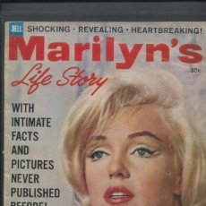 Cine: MARILYN MONROE REVISTA DE 1962 MARILYN´S LIFE STORY COMPLETAMENTE DEDICADA A LA ACTRIZ. Lote 262837870