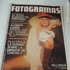 Cine: FOTOGRAMAS Nº 1340 JUNIO 1974 GELA GEISER (PORTADA Y POSTER) TABANO CIRCO ANNY DUPEREY. Lote 143128166