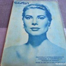 Cine: (E)ECRAN(1955)Nº:1317-CINE HOLLYWOOD,TEATRO Y RADIO-MAÑANA BODA DE GRACE KELLY-VER FOTOS. Lote 102386795